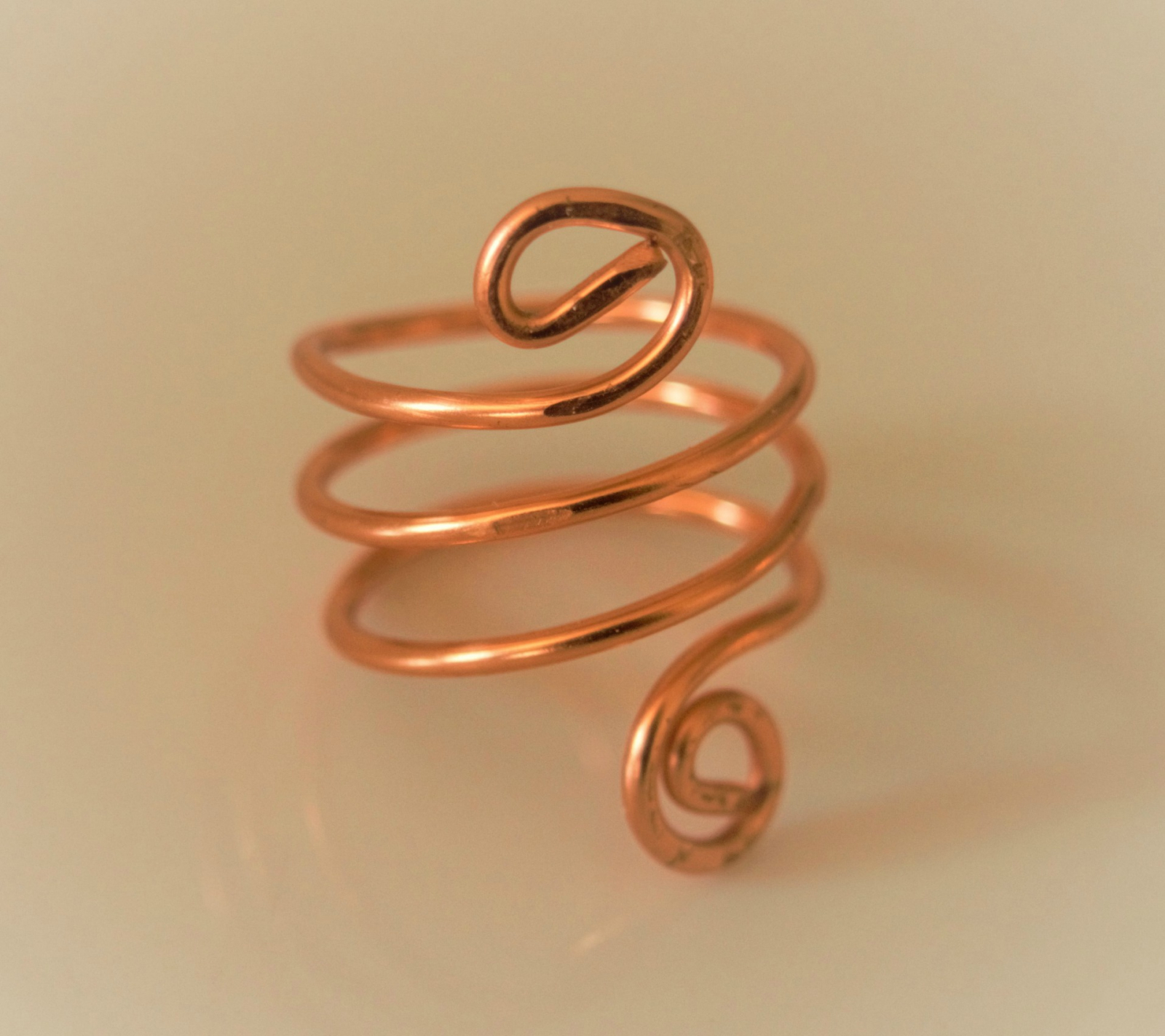 copper spiral ring, copper ring, copper wire wrapped ring | Cheryl\'s ...