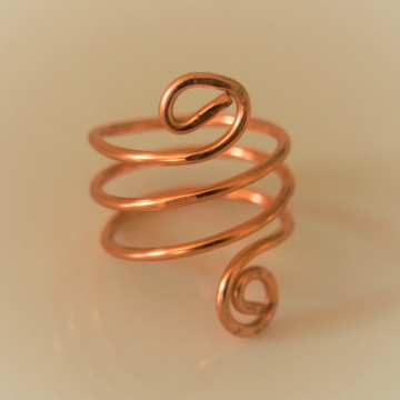 SALE!! Spiral Copper Wire Wrapped Ring, Energy, Enhance Psychic Abilities Valentines Gift Ide