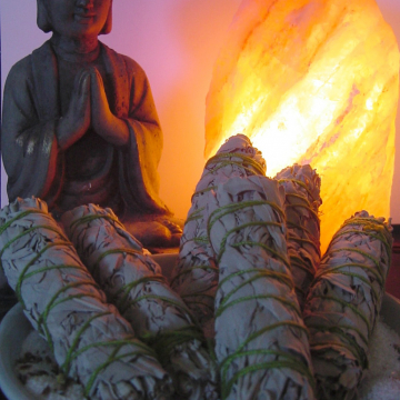 White Sage Smudge Sticks, 3.5 inches for Purifying, Clearing Cleansing Environment & Crystals,Stones, Metaphysical, Incense, Rituals