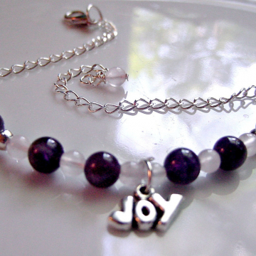 Chakra Ankle Bracelet, Semi Precious Anklet, JOY charm, Wire Wrapped Balance Energy Reiki Jewelry, Gift Idea