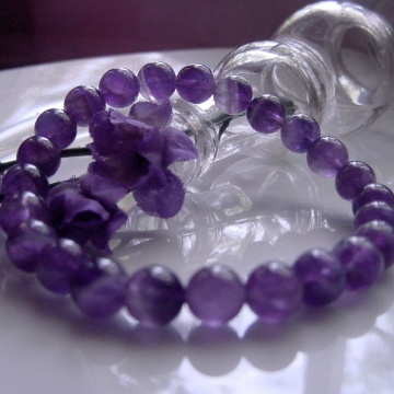 Insightful Amethyst Healing Bracelet, Chakra, Meditation, Intuitive, Third Eye Chakra, Gift Idea,