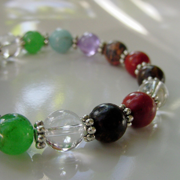 7 Chakra Bracelet Gemstones, FREE EARRINGS Balance Harmonize Energy Centers, 7 Primary Chakras, Gift Idea
