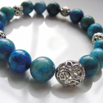 Happiness Bracelet, Crazy Lace Agate,  Laughter Stone, Healing Bracelet, Charka Jewelry,Gift Idea