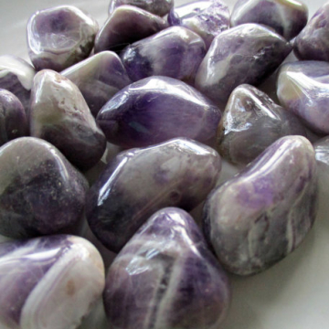 Amethyst Natural Nuggets, Chevron Banded Amethyst Anti-Stress Stone, Spiritual Wisdom, 3rd Eye Chakra, Unique Design
