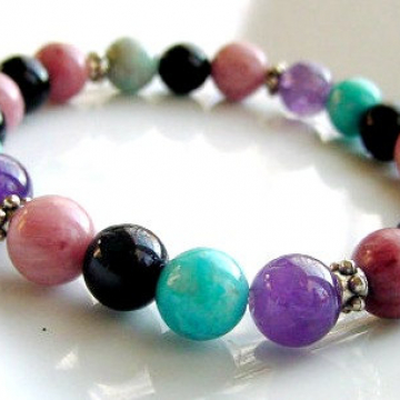Anxiety Bracelet, Multi Stones for Soothing, Focus, Balance, Positive, Chakra Jewelry,Healing, Reiki, Trending Now
