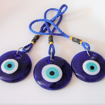 Evil Eye Protection Gorgeous Blown Glass for decoration, car, home, gift, Gorgeous !