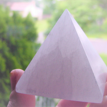 SELENITE PYRAMID, Positive Energy, Chakra Healing, Reiki Healing, Serenity, Purification Stone